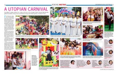 The review of the carnival held at TIGPS- Mankundu on 16th November 2019 (Saturday) published in Young Metro on 2nd December 2019 (Monday).